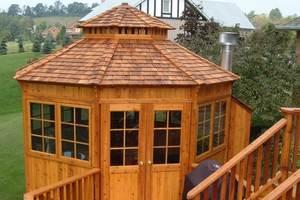 Крыша шестигранной беседки – варианты конструкций и материалов