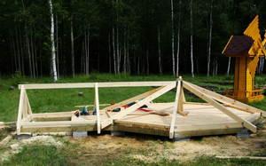Крыша восьмигранной беседки - конструкции и материалы