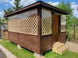 Мягкие окна для всесезонного комфортного отдыха в беседке: защита от насекомых, дождя и ветра