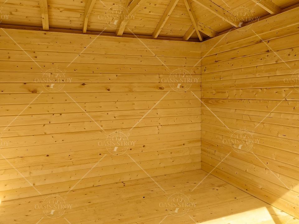 Застекленная беседка № 36 размер 3 х 4 м, фото 3
