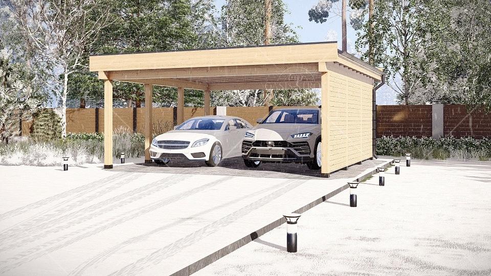 Навес для авто 6х6 м, фото 2