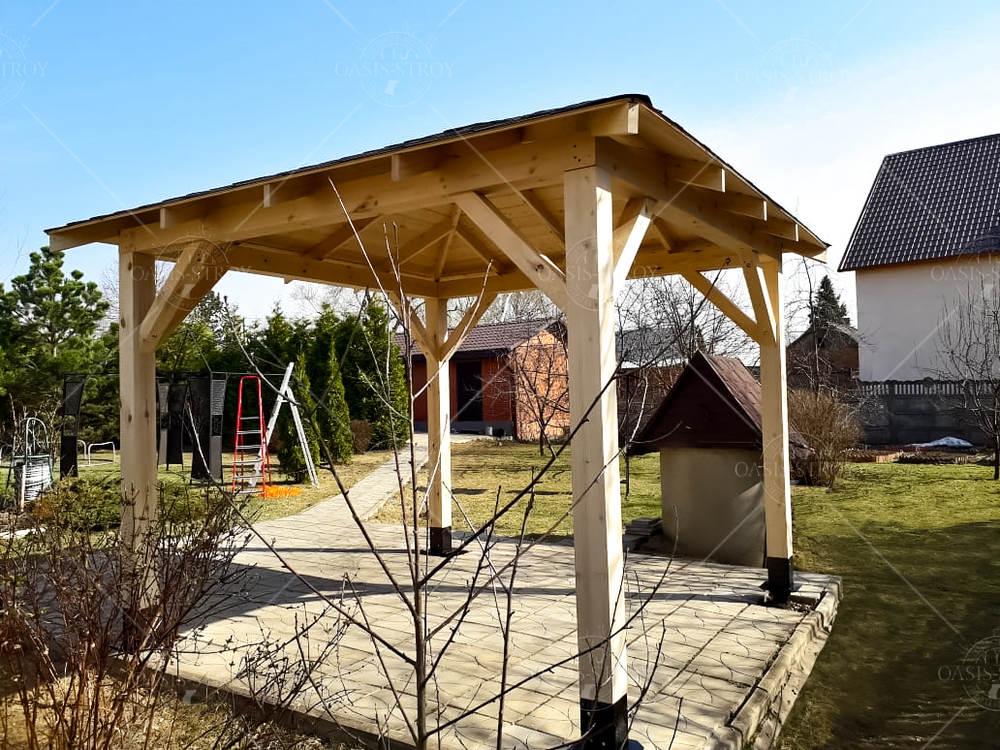 Четырехскатный квадратный навес для сада, фото 2