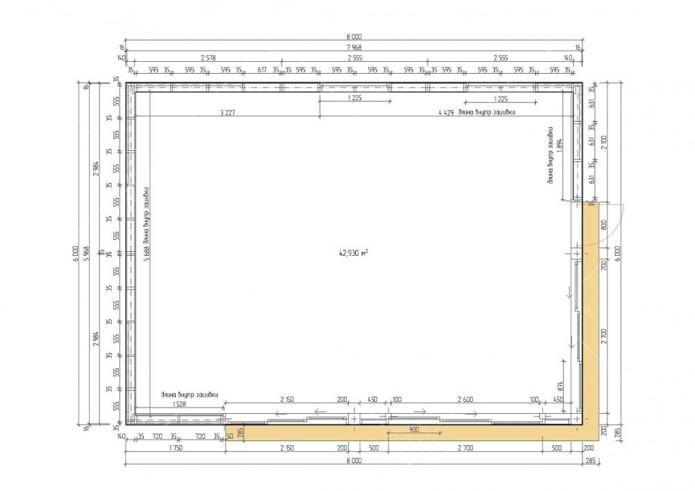 Четырехскатная панорамная беседка 6х8м, фото 6