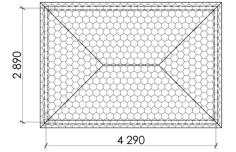 Беседка прямоугольная Т7, фото 5