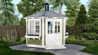 Гриль-домик финский №4 Д=3,5 м (с куполом и дымоходом в комплекте)