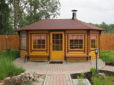 Шестигранная финская беседка из блок хауса