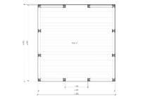 Беседка четырехскатная 4х4 м, фото 4