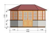 Застекленный шестигранный Павильон, фото 23