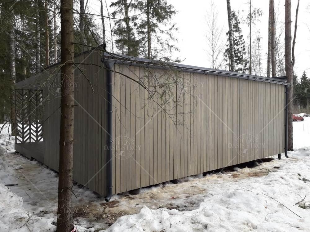 Прямоугольная панорамная беседка с террасой 8х8,6м, фото 6