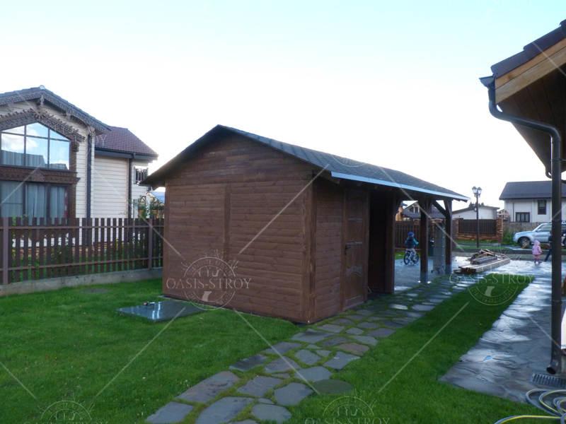 Двухскатный деревянный навес №81, фото 3