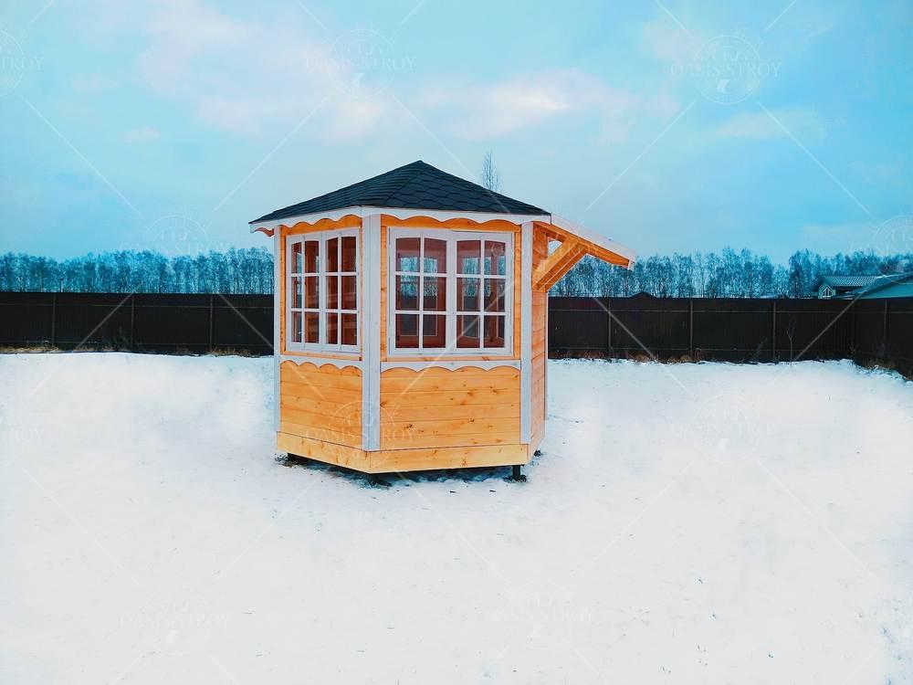 Финская беседка под барбекю для дачи d=3, фото 5