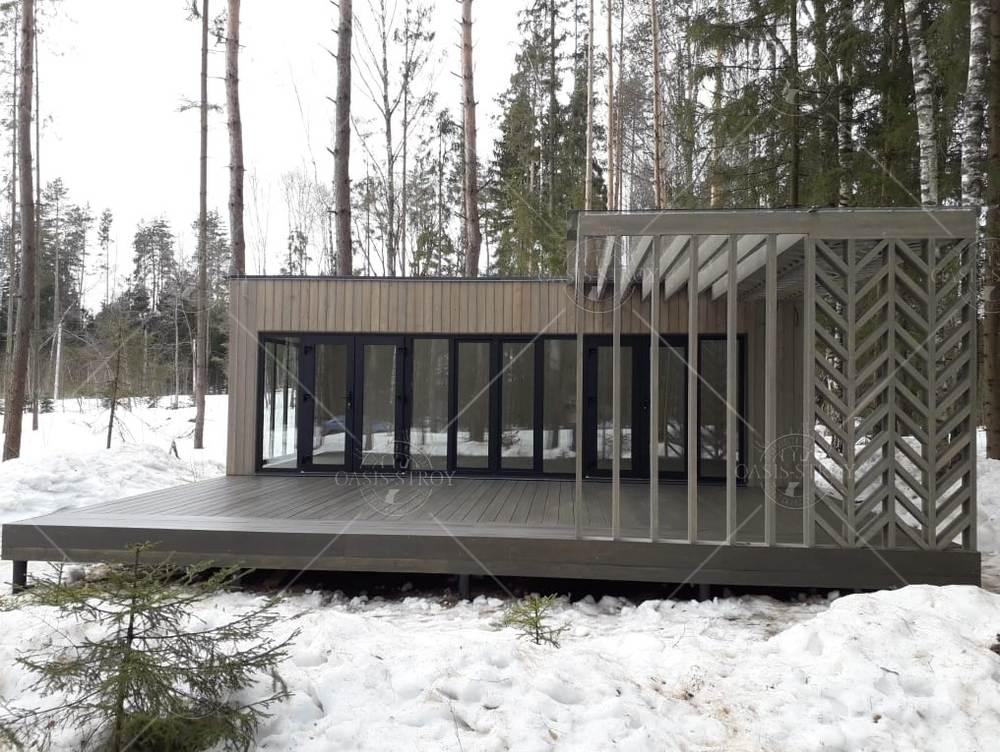 Прямоугольная панорамная беседка с террасой 8х8,6м, фото 5