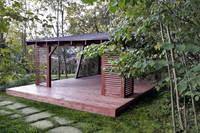 Прямоугольная асимметричная дизайнерская беседка 5х6м, фото 2