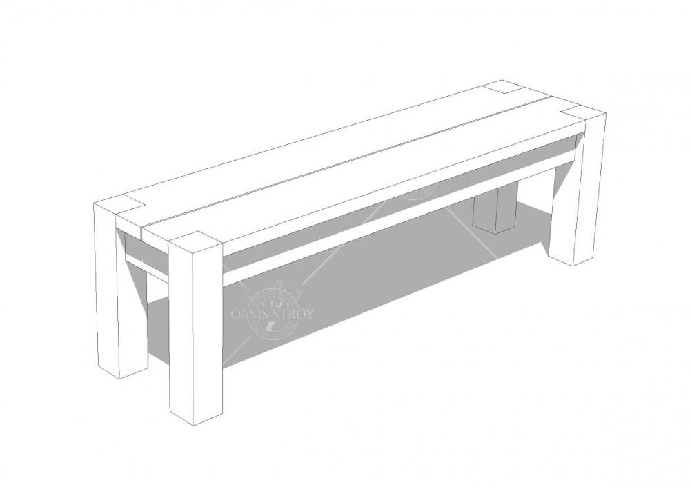 Беседка прямоугольная Z3 - 4х2,7 м, фото 4