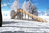 "Зимняя деревянная горка ""Ледяная фантазия"" 3м"