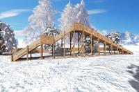 "Зимняя деревянная горка ""Ледяная фантазия"" 4м, фото 2"
