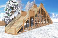 "Зимняя деревянная горка ""Ледяная фантазия"" 4м, фото 3"