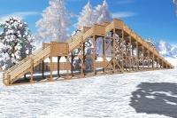 "Зимняя деревянная горка ""Ледяная фантазия"" 5м, фото 2"