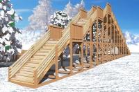 "Зимняя деревянная горка ""Ледяная фантазия"" 5м, фото 3"
