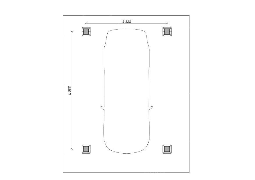 Четырехскатный навес для авто 3,5х5,5 м , фото 5