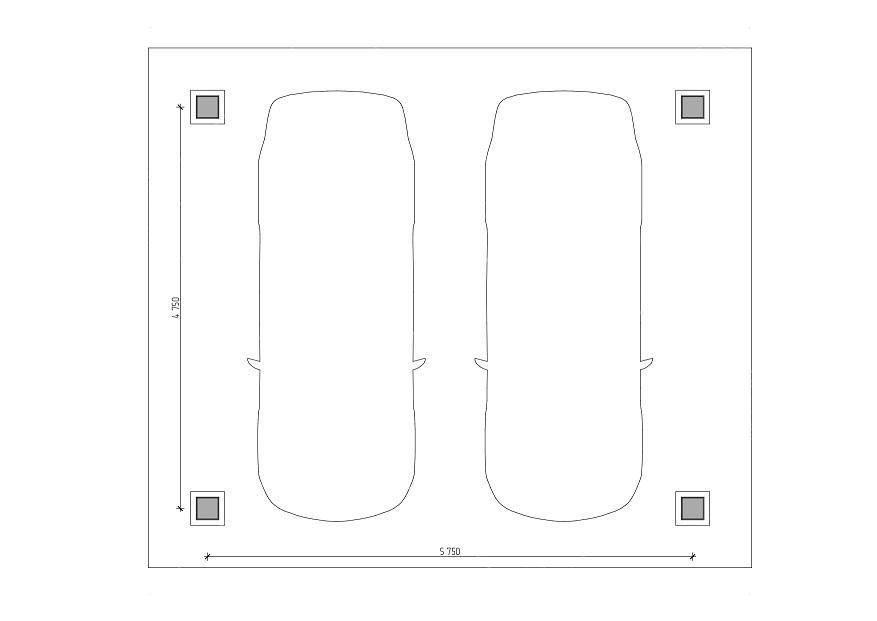 Двухскатный навес для авто 5х6 м , фото 5