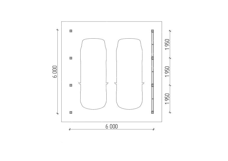 Навес для авто 6х6 м, фото 6