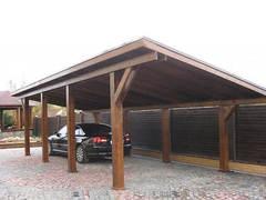 Односкатный деревянный навес №15