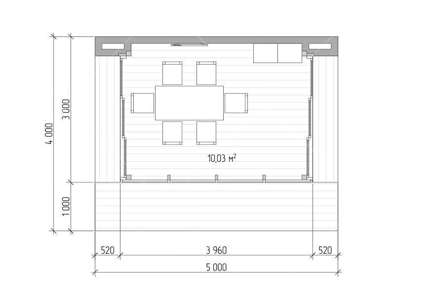 Панорамный офис для дачи 4х5м, фото 13