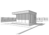 Панорамный офис для дачи 4х5м, фото 16