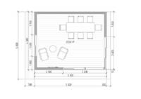 Большой панорамный офис для дачи 4,3х5,3м, фото 5