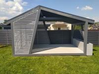 Прямоугольная асимметричная дизайнерская беседка 3х5 м, фото 3