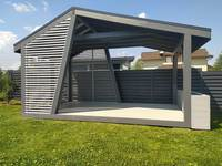 Прямоугольная асимметричная дизайнерская беседка 3х5 м, фото 2