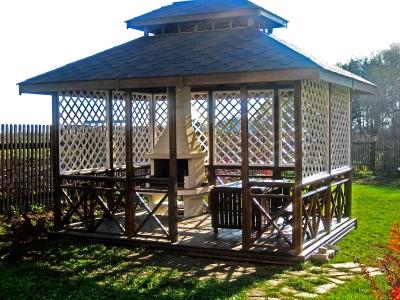 Прямоугольная с 2-ярусной крышей для барбекю