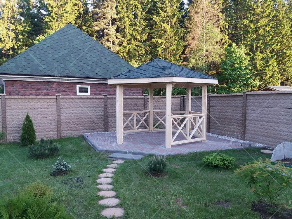 Шестигранная беседка Утро в саду, фото 4
