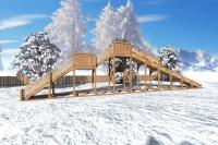 """Зимняя деревянная горка """"Снежинка"""" 3м, фото 3"""