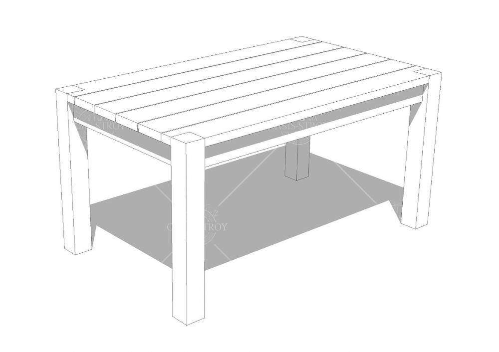 Беседка прямоугольная Z3 - 4х2,7 м, фото 5