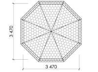 Беседка восьмигранная Т14, фото 5
