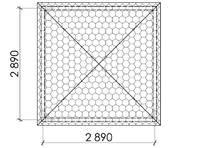 Беседка квадратная Т15, фото 5
