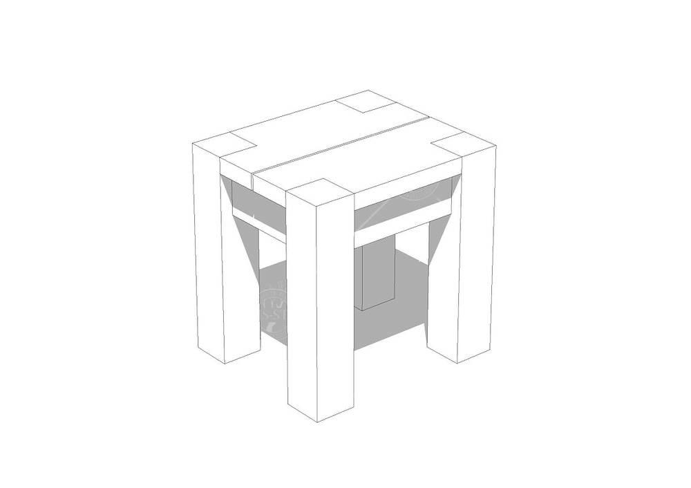 Беседка квадратная Т1 - 2,7х2,7 м, фото 4