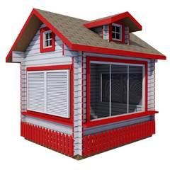 Застекленный ярмарочный домик